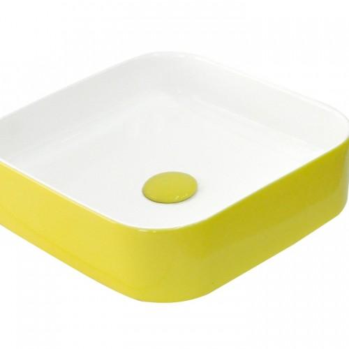 Güral Nova Sarı Mobilya Üstü Lavabo