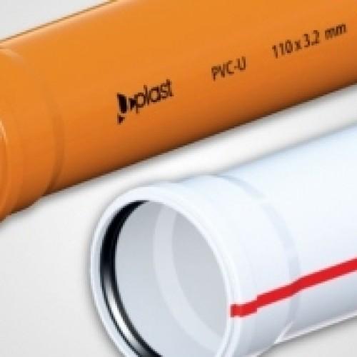 UPLAST PVC Atık su boruları 50 x 250 (3.2 mm)