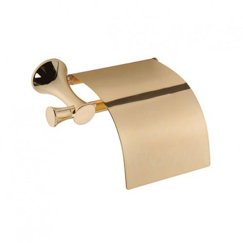 Duxxa Art Deluxe Tuvalet Kağıtlık Kapaklı Gold