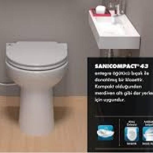 SANIHYDRO SANICOMPACT 43 KLOZET WC ÖĞÜTÜCÜ (İLAVE LAVABO BAĞLANABİLİR)