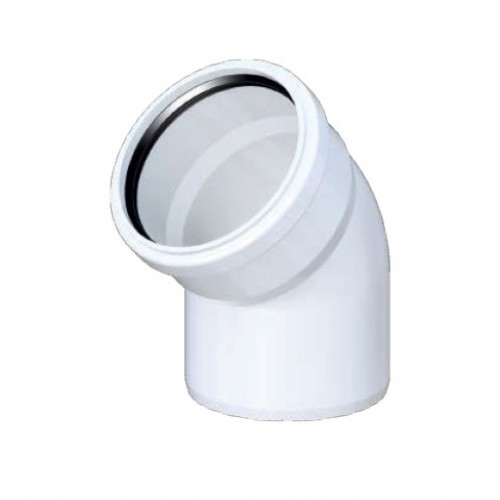 UPLAST PVC Atık Su dirsek  75 mm (3.2 mm)