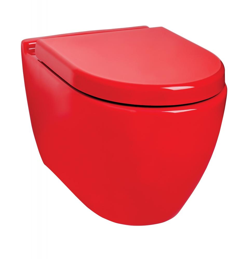 Güral Uno Kırmızı Asma Klozet